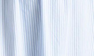 ELOQUII Smocked Bodice Ruffle Midi Sundress