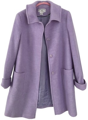 Non Signé / Unsigned Non Signe / Unsigned Purple Wool Coat for Women