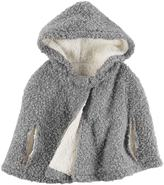 Carter's Toddler Girl Hooded Sherpa Poncho