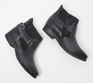 Miz Mooz Leather Buckle Ankle Boots - Daryn