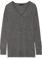 The Row Amherst Cashmere And Silk-blend Sweater - Anthracite