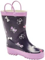 Sears Girls' Butterfly Print Rain Boots
