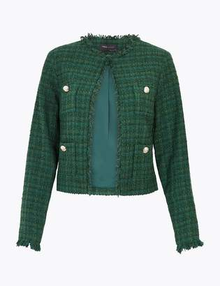 Marks and Spencer Tweed Straight Short Jacket