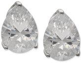 Giani Bernini Cubic Zirconia Teardrop Stud Earrings in Sterling Silver, Created for Macy's