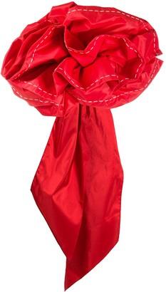 Johanna Ortiz Ruffled-Flower Strapless Top
