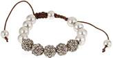 Blu Bijoux Silvetone Glitter Beaded Shamballa Bracelet