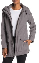 Kenneth Cole New York Hooded Soft Shell High/Low Jacket