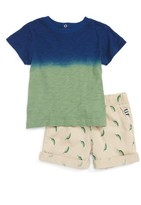 Splendid Infant Boy's Dip Dye T-Shirt & Pepper Shorts