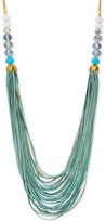 lonna & lilly Gold-Tone Multi-Strand Beaded Statement Necklace
