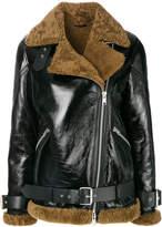 AllSaints shearling lined aviator jacket