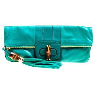 Gucci Green Leather Clutch bags