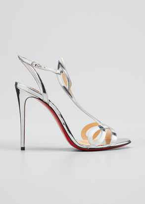 Christian Louboutin Double L Metallic Red Sole Sandals