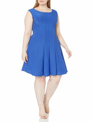 Julian Taylor Women's Plus Size Full Figured Solid Fit and Flare Dress