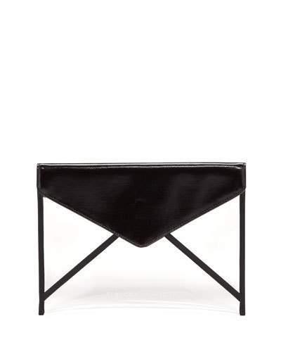 Rebecca Minkoff Leo Transparent Envelope Clutch Bag
