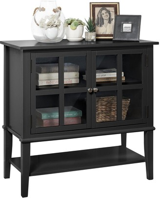 Franklin 2 Door Storage Cabinet- Black