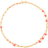 Gorjana Sol Gemstone Wrap Necklace in Metallic Gold.