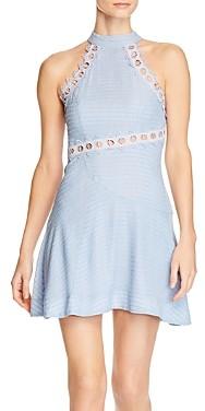 Keepsake New Look Eyelet Trim Mini Dress