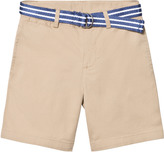 Ralph Lauren Beige Classic Chino Shorts with Belt