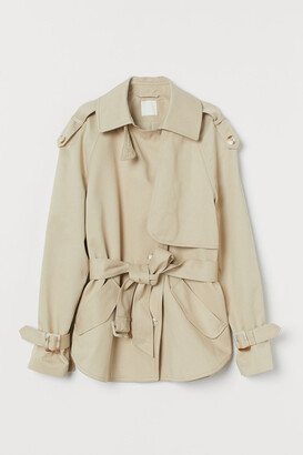 H&M Short Lyocell-blend Trenchcoat