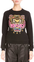 Kenzo Light Brushed Cotton Tiger Sweatshirt, Black
