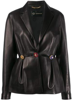 Versace cut out embellished jacket