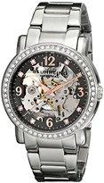 Stuhrling Original Women's 531L.111154 Canterbury Automatic Skeleton Crystals Grey Dial Watch