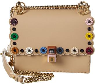 Fendi Kan I Mini Leather Chain Shoulder Bag