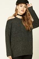 Forever 21 FOREVER 21+ Marled Open-Shoulder Sweater
