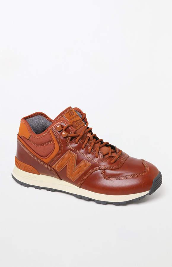 New Balance 574 Mid Cut Tan Shoes
