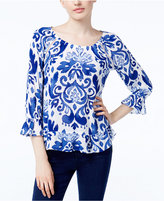 INC International Concepts Ruffled Peasant Top, Created for Macy's