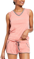 Bebe Women's Sleep Bottoms MIH - Pink Lace-Accent 'Bebe' Pajama Set - Women