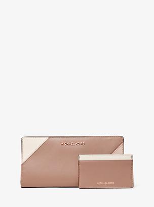 MICHAEL Michael Kors Large Tri-Color Leather Slim Wallet