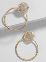 BaubleBar Lutana Druzy Hoop Earrings