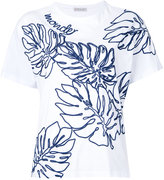 Moncler embroidered T-shirt - women - Cotton - S
