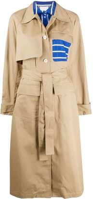 Sjyp Contrast Trench Coat