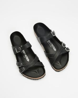 Birkenstock Women's Black Flat Sandals - Franca Black Oiled Leather Regular - Women's - Size 37 at The Iconic