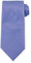 Ermenegildo Zegna Micro Diamond & Medallion Printed Silk Tie