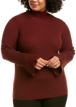 Lafayette 148 New York Plus Ribbed Wool Sweater
