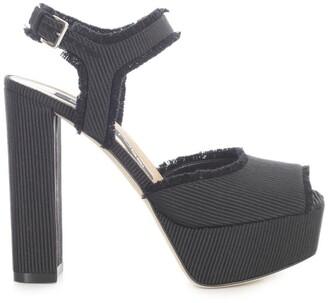 Sergio Rossi Square Toe Platform Sandals
