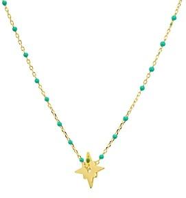 Argentovivo North Star Enamel Detail Necklace 14