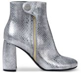 Stella McCartney alter snake silver ankle boots