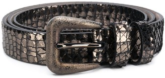 Brunello Cucinelli Metallic-Effect Belt