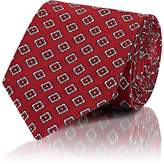 Isaia Men's Medallion-Pattern Silk Necktie