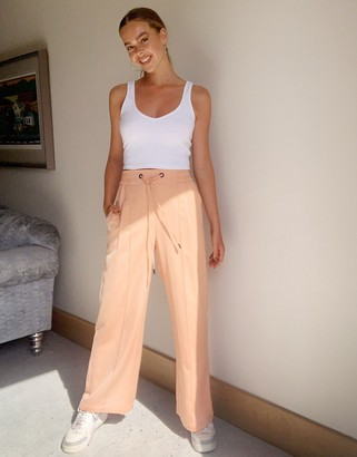 Topshop woven joggers in peach