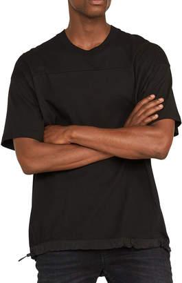 Hudson Men's Boxy Cotton T-Shirt with Nylon Drawcord Hem