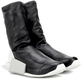 Adidas by Rick Owens Level High leather sneakers