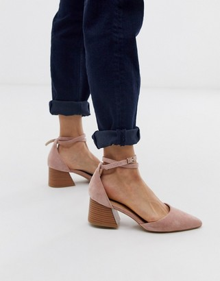 Raid RAID Ramira blush heeled shoes with stacked heel-Beige