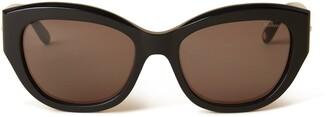Mulberry Ivy Sunglasses Black Acetate