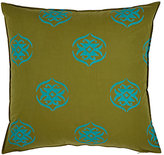 LIFE by Muriel Brandolini Abstract-Symbol-Print Cotton Pillow