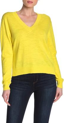 J.Crew Slub Knit V-Neck Sweater